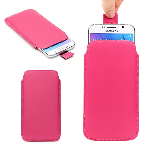 Custodia da 5,5 pollici Cover universale con linguetta, Urcover pull tab Case, Sacchetto smartphone con protezione anticaduta - Fucsia