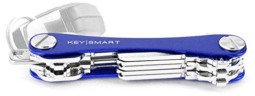 KeySmart Extended | Organizzatore e portachiavi compatto (2-14 chiavi, blu)