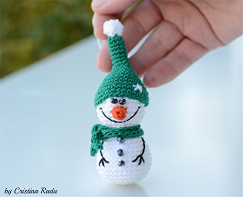 Crochet Snowman Christmas Doll Winter Holiday Decor Amigurumi Toy ... | 405x500