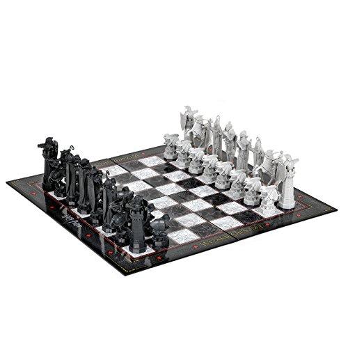 Harry Potter - Gioco di scacchi - Replica tratta da La Pietra Filosofale - Figure di 5-11,5 cm - Tavola 31x31cm - Licenza ufficiale - Plastica