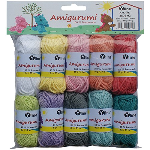 Assortment Amigurumi Wool 10 Ball 10g, 100% Cotton, Wool/Yarn/Crochet Yarn – 2870 02